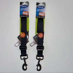 NEW Lot of 2 Petmate Seat Belt Loop Tether M/L